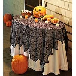 Black Lace Tablecloth HAlloween