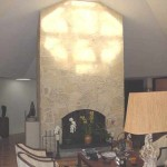 Original Stone Fireplace