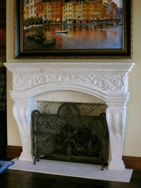 classic french mantel fireplace
