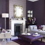 simple white mantel - purple room