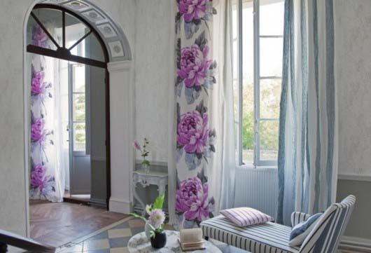 Spring-Interior-Design-Ideas Flower Draperies