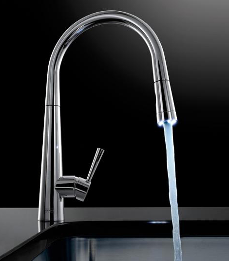 FRANKE rolux pull out faucet with LED light