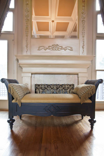 Classic Fireplace with mirror