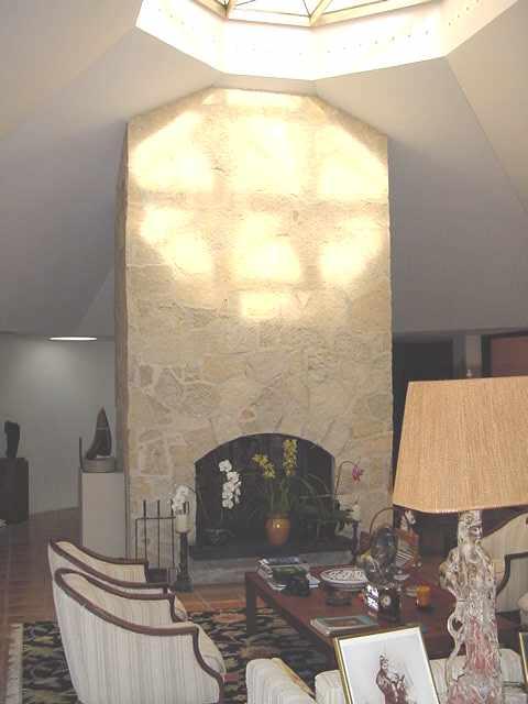 Original Stone Fireplace