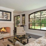 Kim Kardashian's house fireplace