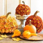 Flower Pumpkin Thanksgiving Table Centerpiece Decorating Idea