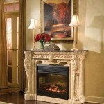French carved marble mantel fireplace