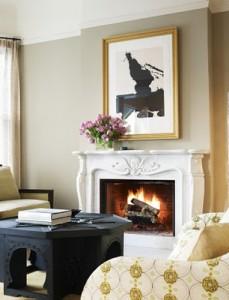 charles de lisle - fabulous white marble fireplace mantel