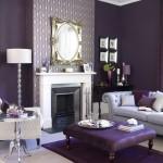 simple white mantel - purple room