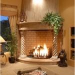 Original mantel with columns -fireplace-pillars-of design