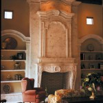 grand living room carved marble mantel fireplace with the mirror panel