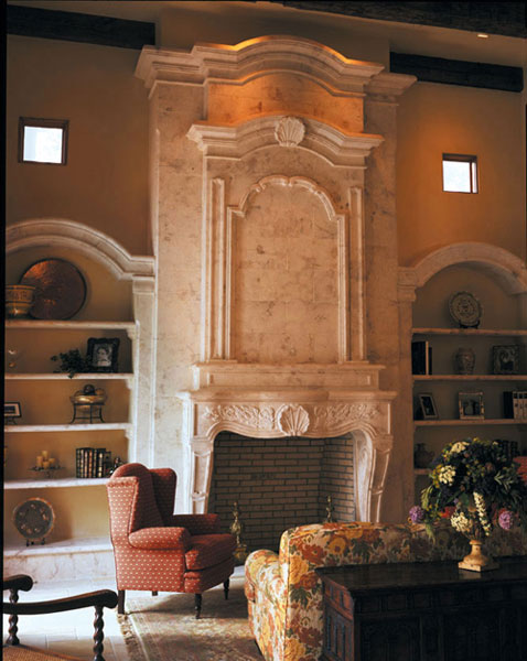Grand Living Room Carved Marble Mantel Fireplace With The